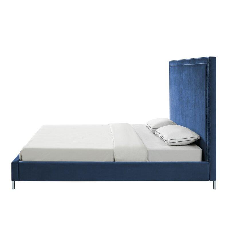 bed wht leather platform k beds chic upholstered l