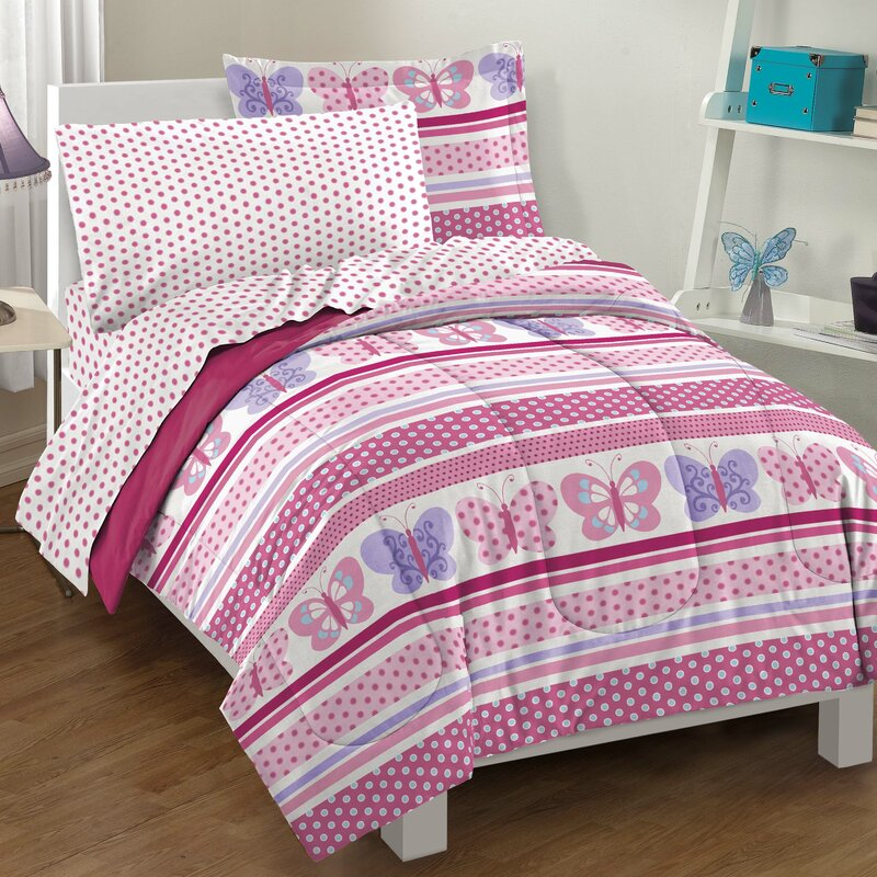 Butterfly Dots Bed-In-A-Bag Set