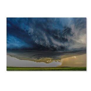 Storm Over Greenfield Graphic Art On Wred Canvas