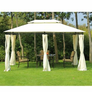 13 Ft. W x 10 Ft. D Steel Patio Gazebo  sc 1 st  Wayfair : outdoor gazebo canopy - afamca.org