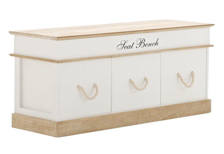 home haus sitzbank molina mit 3 stauraum aus holz bewertungen. Black Bedroom Furniture Sets. Home Design Ideas