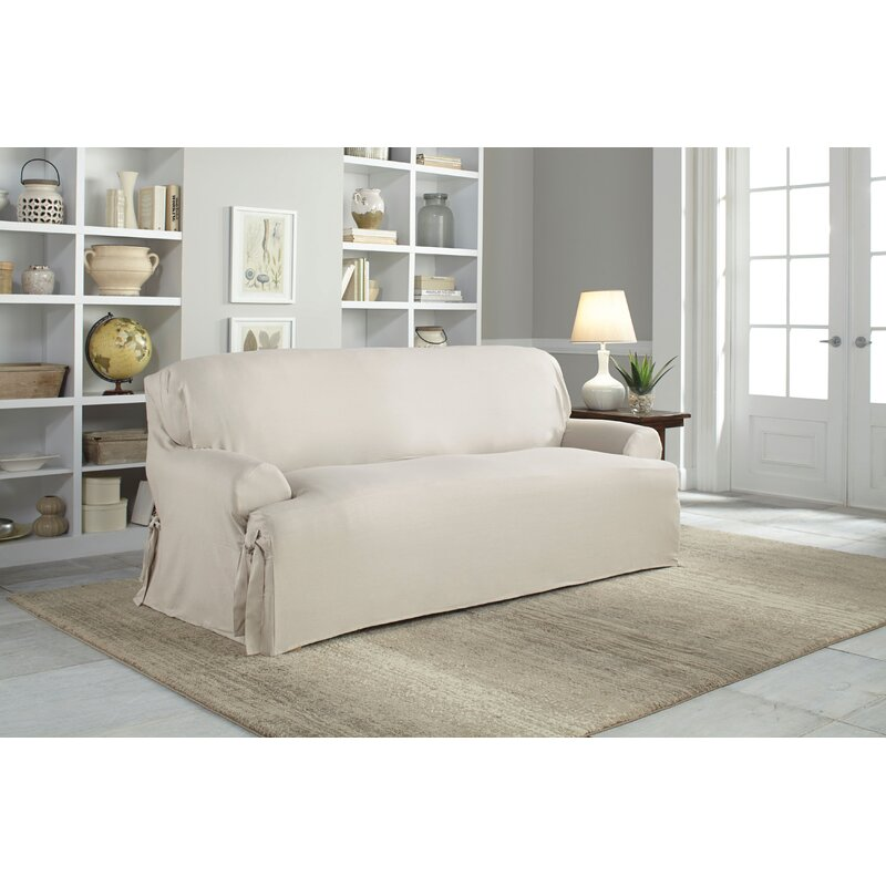 Exceptionnel Cotton Duck T Cushion Sofa Slipcover