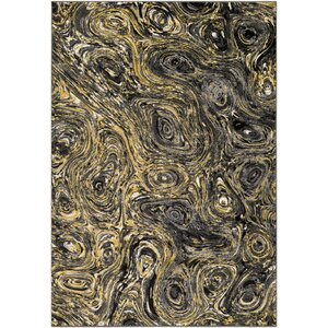 Callisto Yellow/Charcoal Area Rug