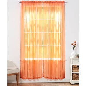 aman solid sheer rod pocket curtain panels set of 4