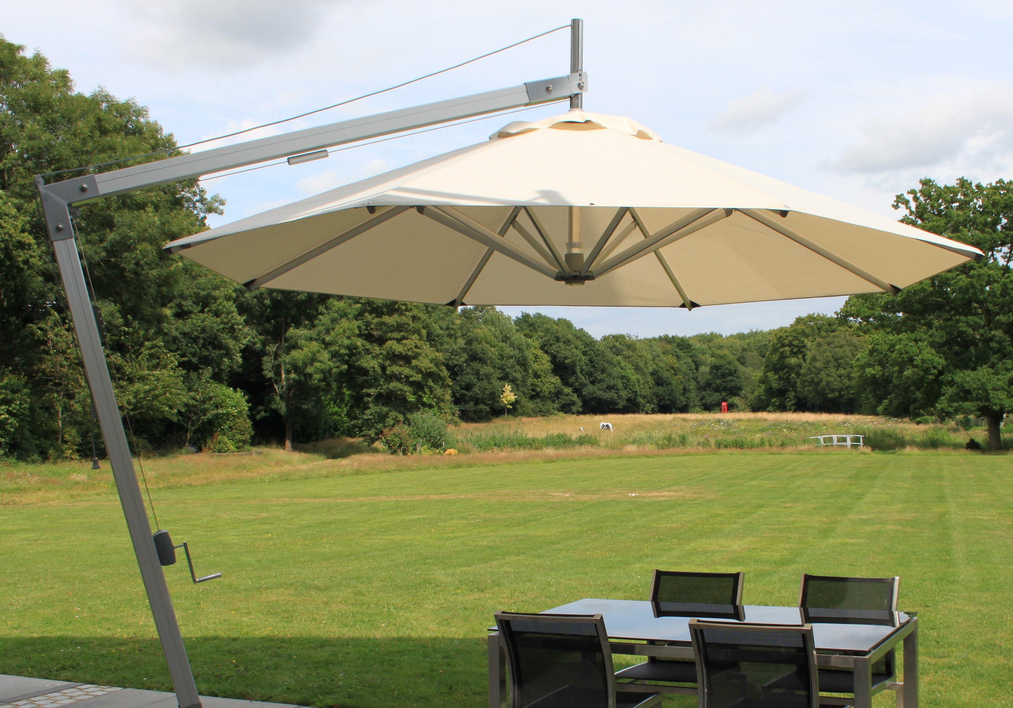 Bambrella Side Wind 10 5 Cantilever Umbrella Wayfair Ca