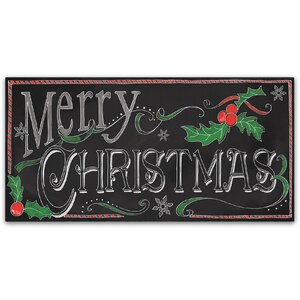 'Chalk Merry' Textual Art on Wrapped Canvas