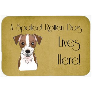 Jack Russell Terrier Spoiled Dog Lives Here Kitchen/Bath Mat