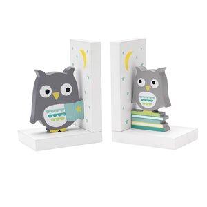 Hazelnut Hollow Owl Book Ends (Set of 2)