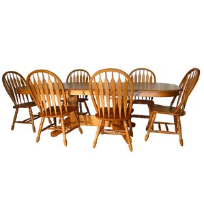 Aldwin 7 Piece Traditional Dining Set by Darby Home Co
