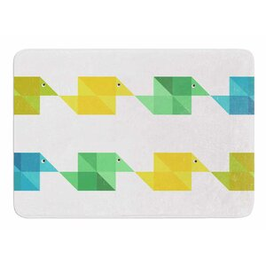 Duck Pattern by Cvetelina Todorova Bath Mat