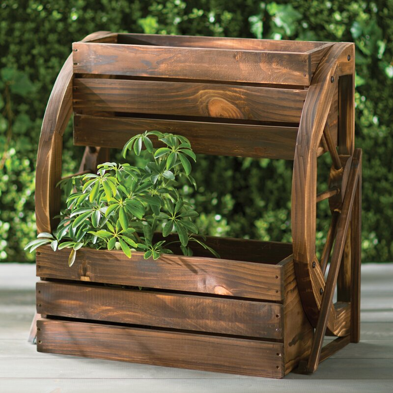 Lovely Fir Wood Raised Garden Planter