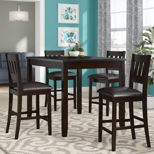 Barney 5 Piece Counter Height Pub Table Set
