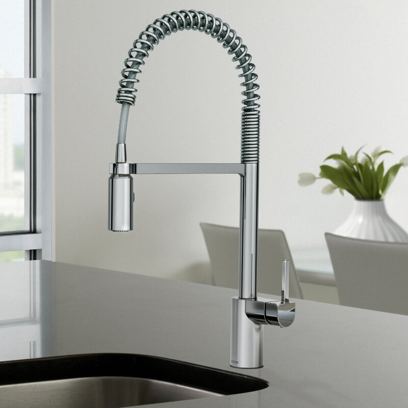 moen align one handle pre-rinse spring pulldown kitchen faucet