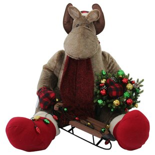christmas sitting moose inflatable