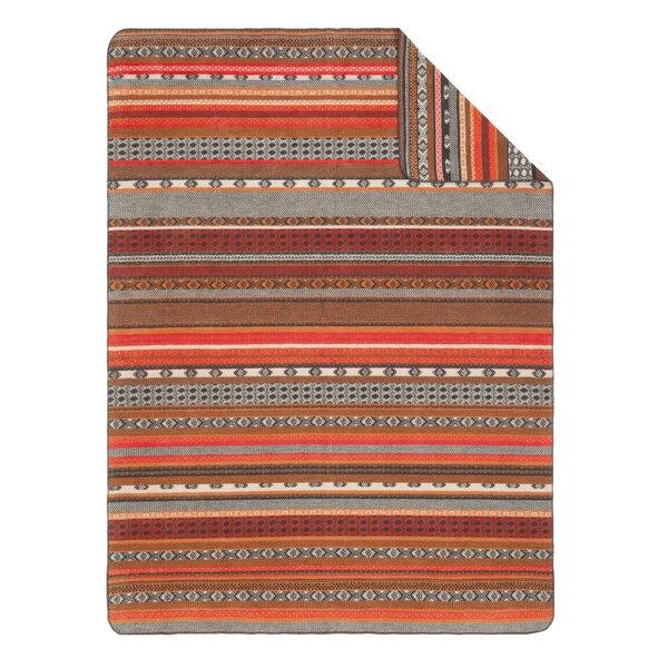 Ibena Sorrento Folklore Fair Isle Oversized Throw Blanket ...