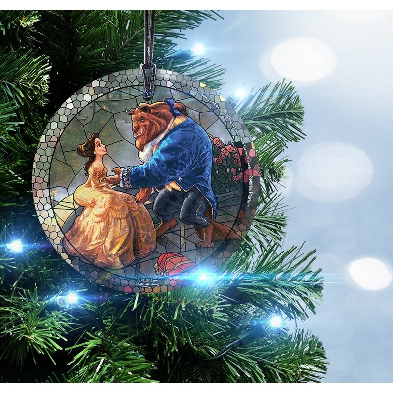 disney beauty and the beast hanging shaped ornament - Disney Beauty And The Beast Christmas Decorations