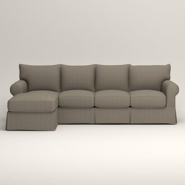 Wondrous Jameson Slipcovered Sleeper Sectional Inzonedesignstudio Interior Chair Design Inzonedesignstudiocom