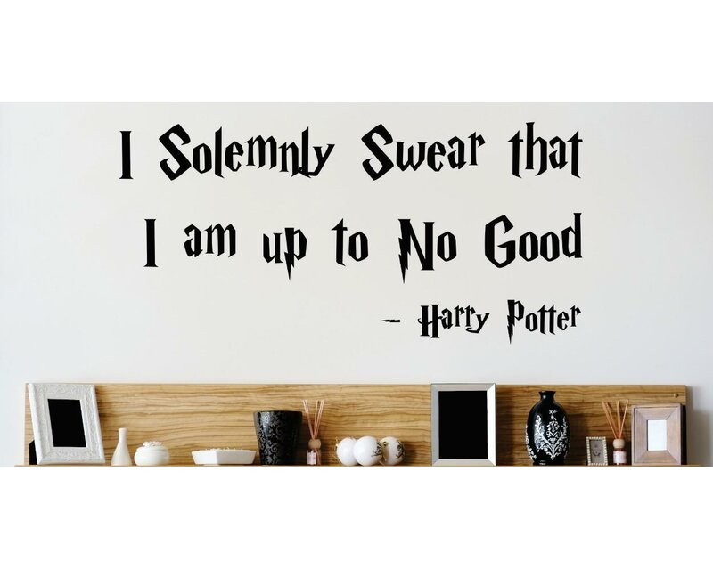 I Solemnly Swear That I Am Up to No Good Harry Potter Wall Decal  sc 1 st  Wayfair & Design With Vinyl I Solemnly Swear That I Am Up to No Good Harry ...