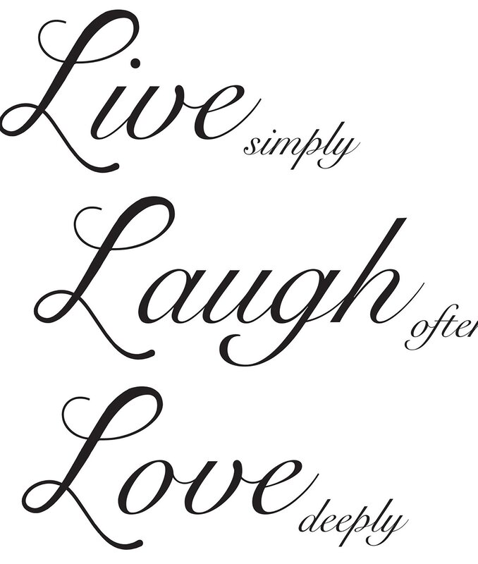 Wallpops Live Laugh Love Wall Decal Amp Reviews Wayfair