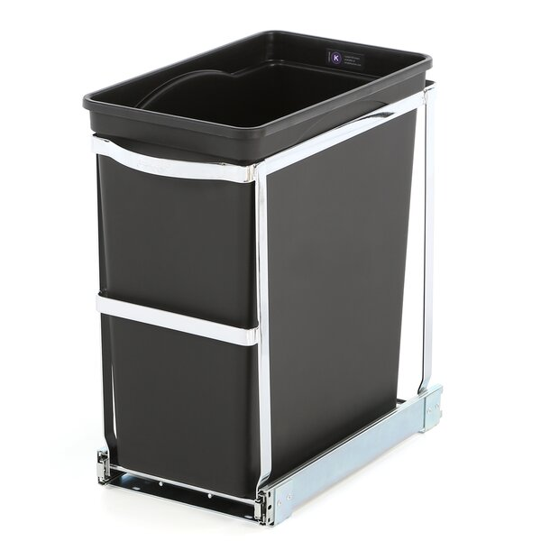 Simplehuman Plastic 8 Gallon Pull Out Under Counter Trash