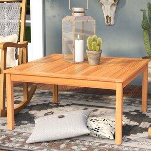 Read Reviews Waurika Outdoor Wood Coffee Table  Loon Peak