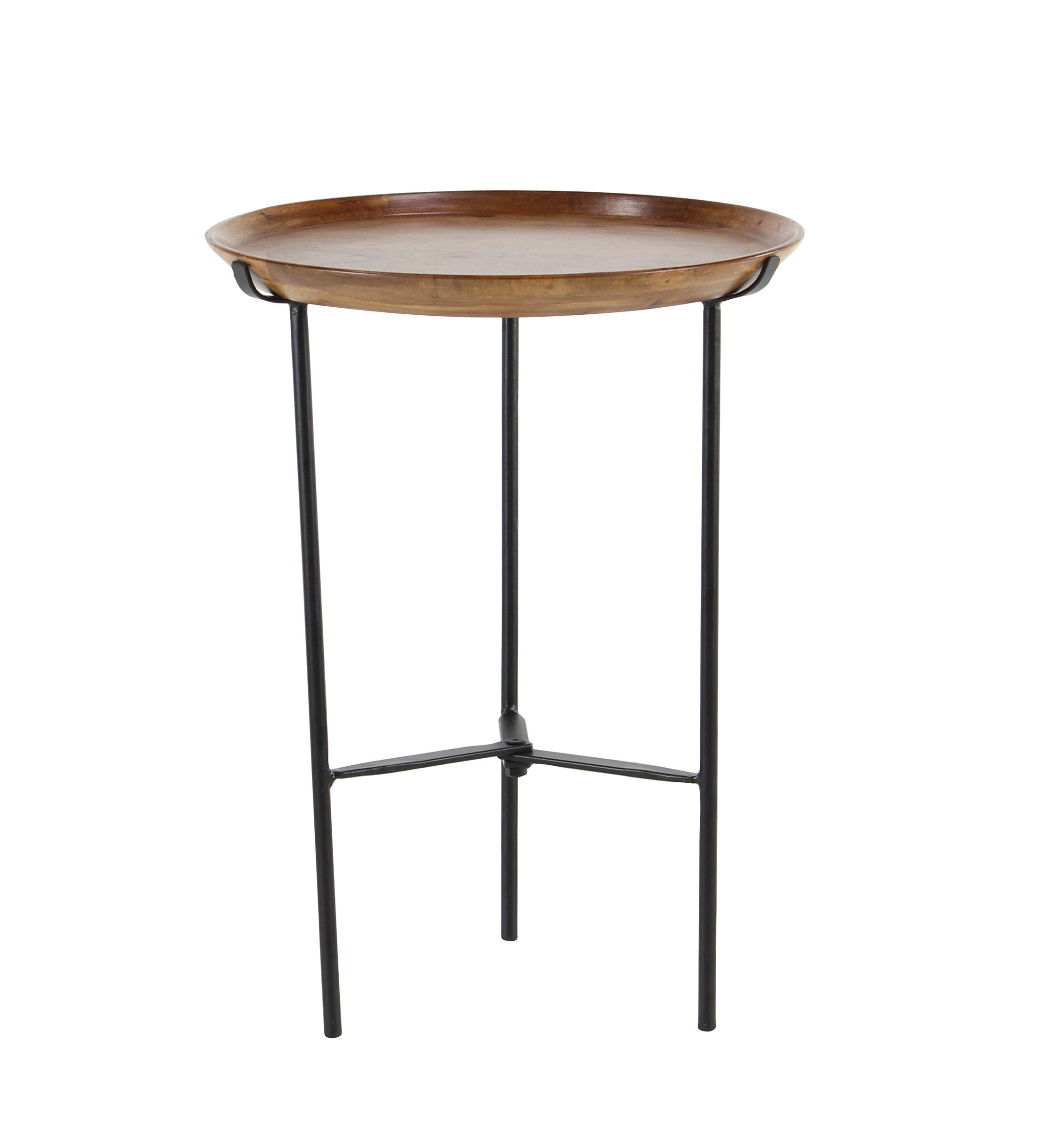 Union rustic woburn rustic round end table wayfair