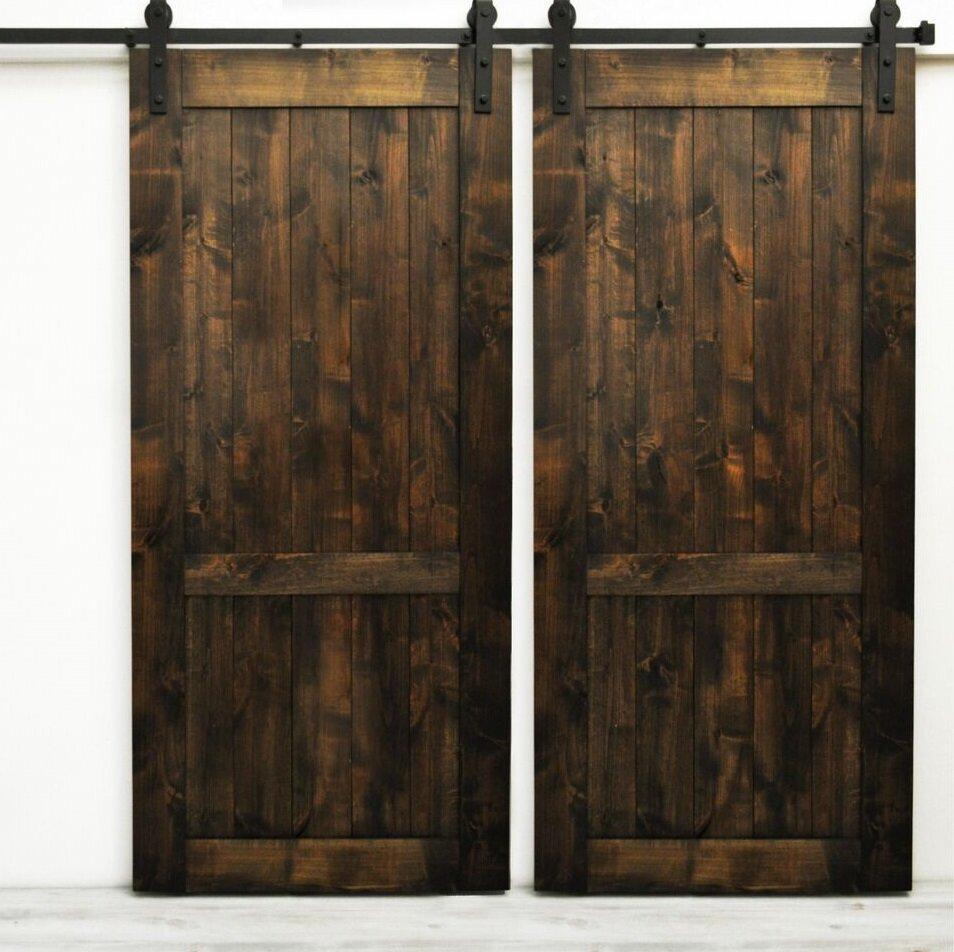 August Grove Woodbury Wood 2 Panel Interior Barn Door Reviews Wayfair