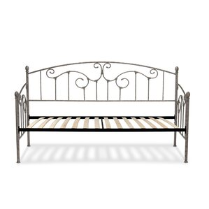 Marcy Modern Metal Daybed with Vertica..