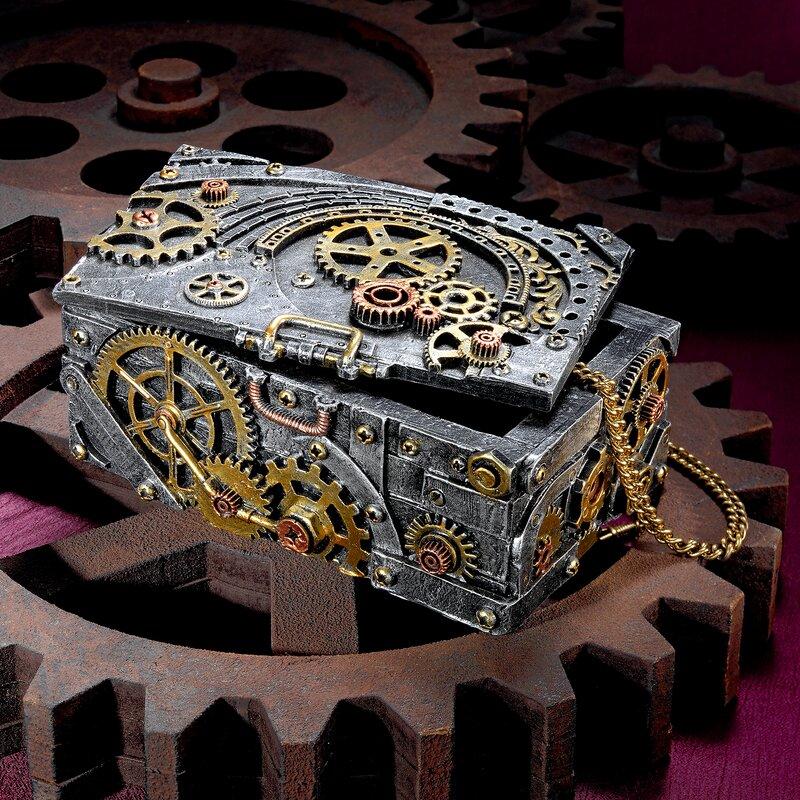 design toscano steampunk cog and turbine decorative box reviews