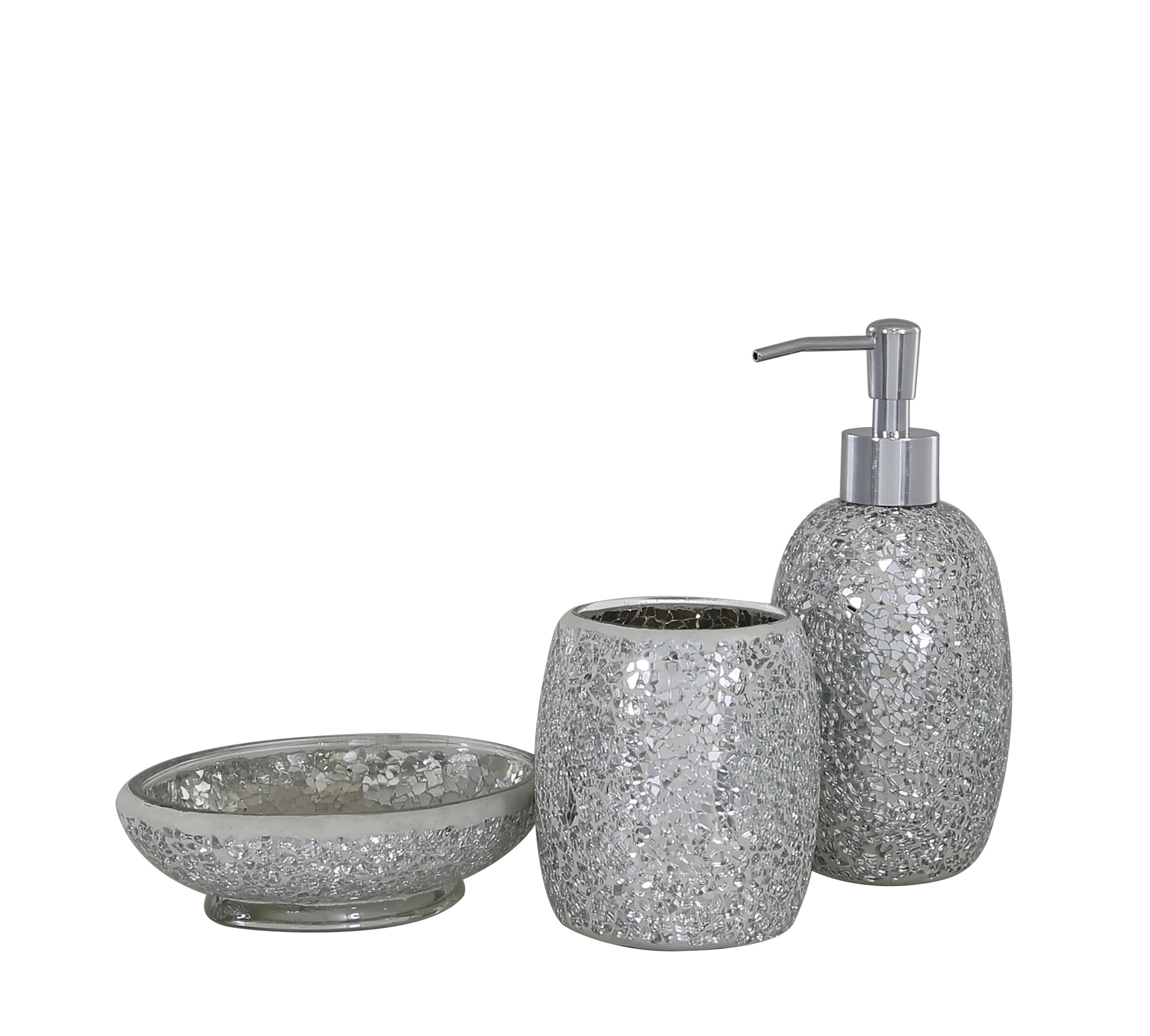 Belfry Bathroom Mosaic 3 Piece Bathroom Accessories Set & Reviews | Wayfair.co.uk