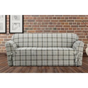 Highland Plaid Box Cushion Sofa Slipcover by Sure Fit