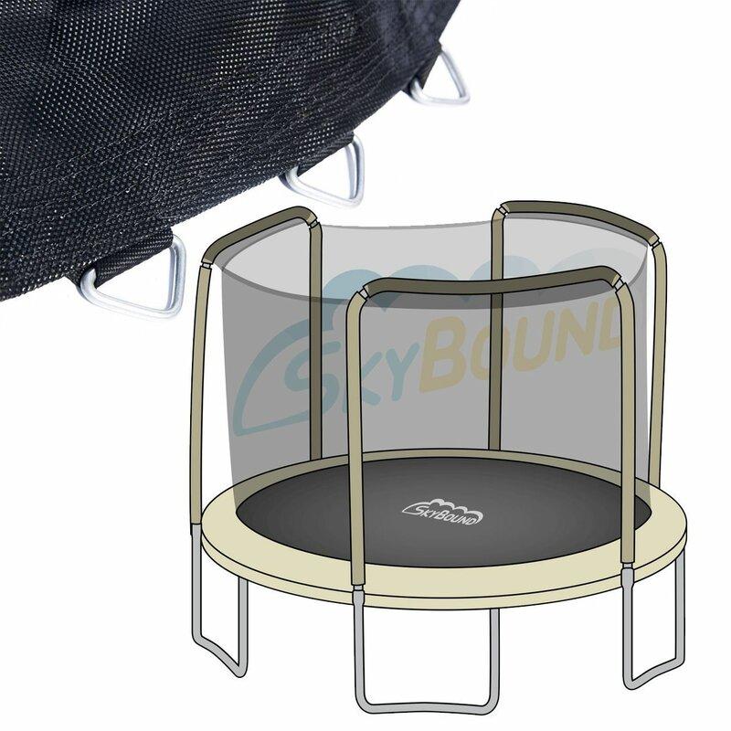 Round Trampoline Net Using 4 Poles Color: Black