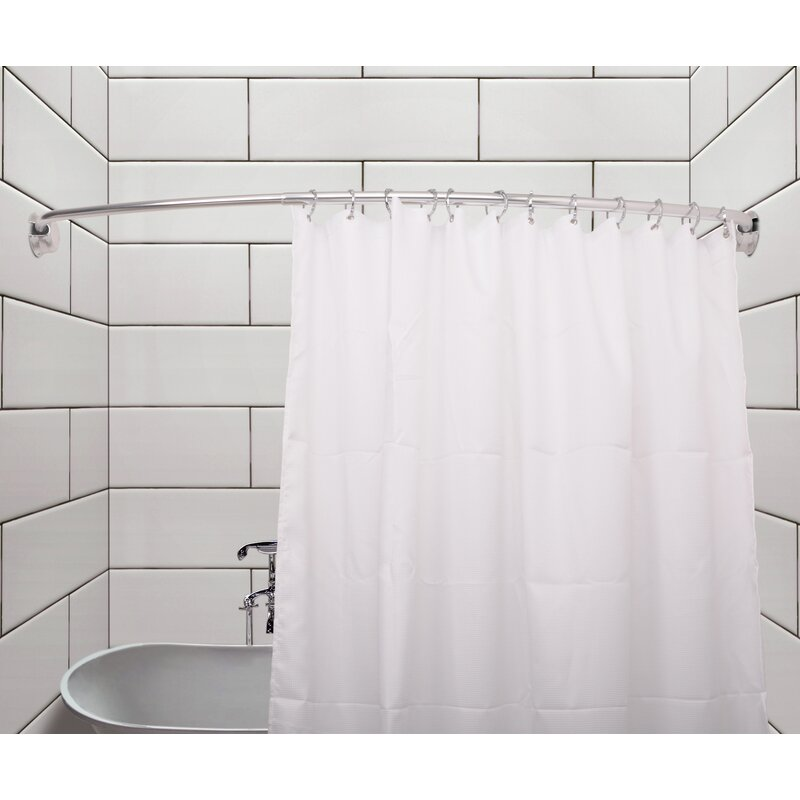 Rustproof 72 Adjule Curved Fixed Shower Curtain Rod