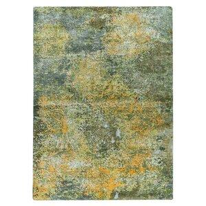 Mehran Hand-Woven Green/Orange Area Rug