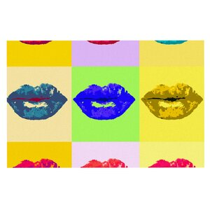 Oriana Cordero 'Pop Kiss' Rainbow Lips Doormat