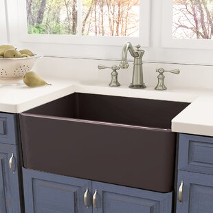 30 inch apron sink wayfair rh wayfair com 30 inch fireclay farmhouse kitchen sink highpoint collection 30-inch single bowl fireclay farmhouse kitchen sink