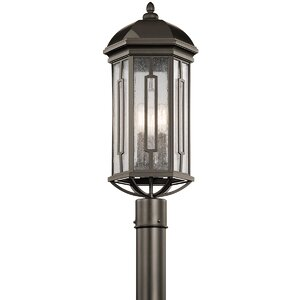 Sasakwa Outdoor 3-Light Post Light