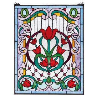 Tulip Treasure Tiffany Style Stained Glass Window