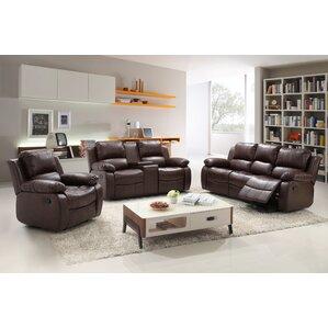 3 piece living room sets. Reno 3 Piece Living Room Set Leather Sets You ll Love  Wayfair