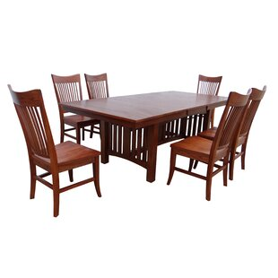 Julie 7 Piece Extendable Solid Wood Dining Set