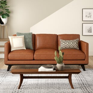 Modern & Contemporary Leather Double Chaise Sofa | AllModern