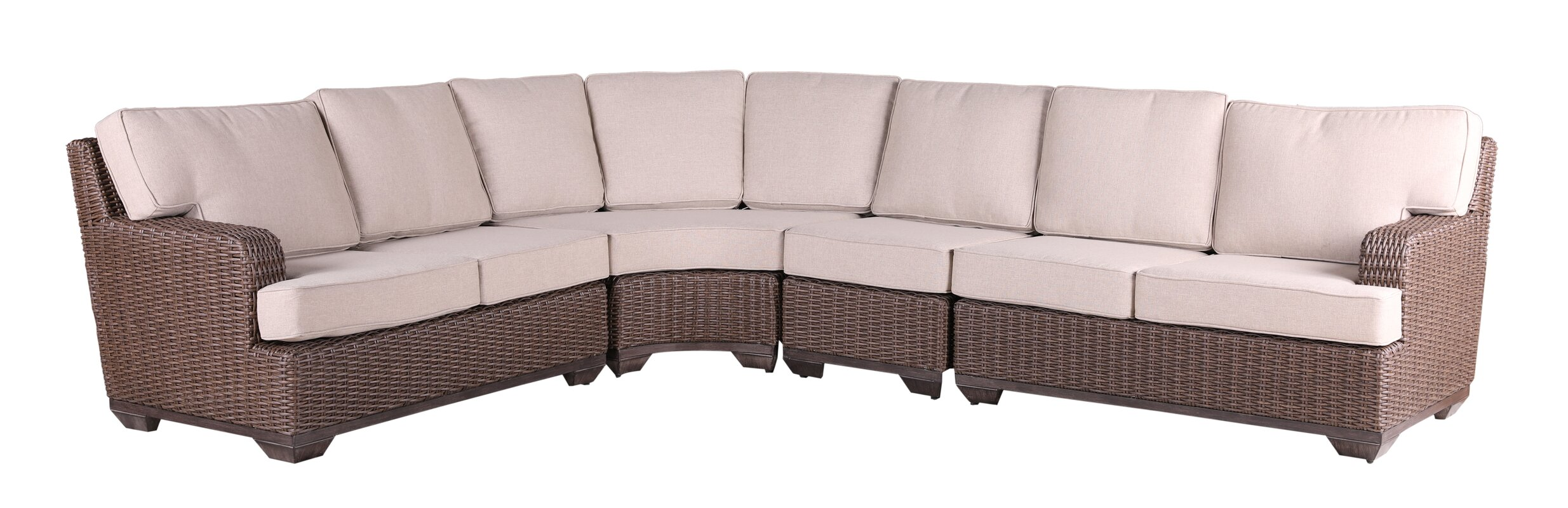 Latitude Run Vicki Sectional with Cushions