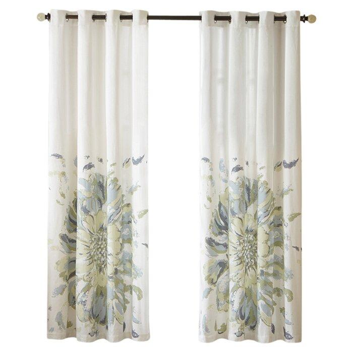 hilda single semisheer curtain panel