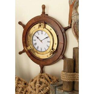 Ship Wheel 18 Wall Clock