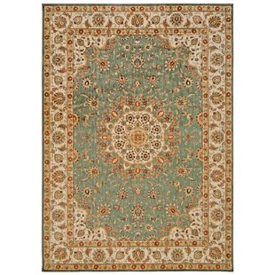 Babylon Ancient Times Palace Teal Area Rug