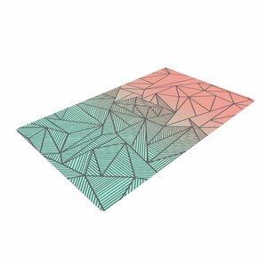 Fimbis Bodhi Rays Geometric Illustration Blue/Orange Area Rug
