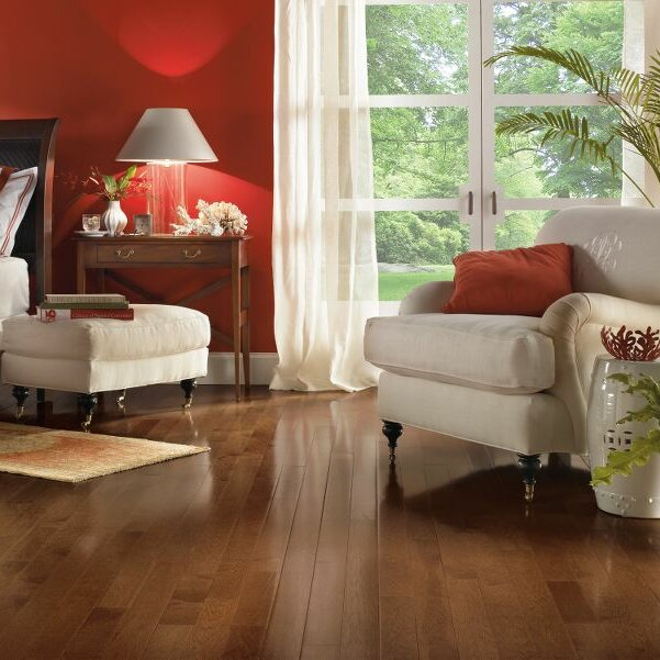 "American Treasures 2-1/4"" Solid Hickory Hardwood Flooring in Plymouth Brown"