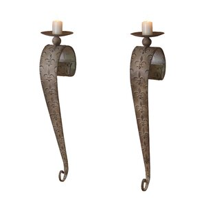 Wall-Mounted Candlestick Holder (Set of 2)