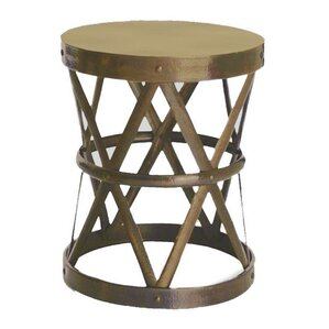 Good Hammered Drum Cross Table / Stool