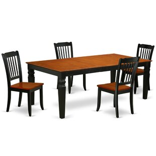 Kowalczyk 5 Piece Extendable Solid Wood Dining Set